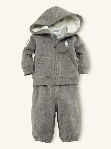 Hooded Fleece & Pant Set - Outfits & Gift Sets   Layette Boy (Newborn-9M) - RalphLauren.com