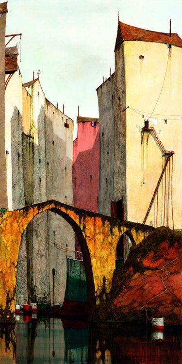 Cyril CroucherGift, Art Paintings, Myths, Acrylics Painting, Cities Bridges, Art Beautiful, Legends Ii, Cyril Croucher, Buildings & Bridges Painting