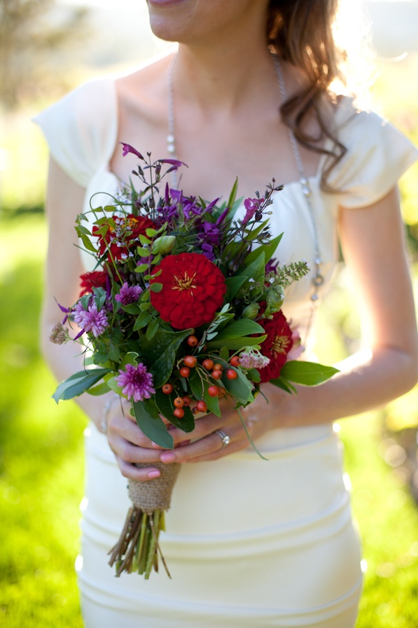 Red And Purple Wild Flower Wedding Bouquet Photography Meganclouse
