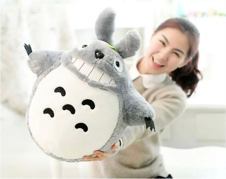Totoro Smiling Plush Toy //Price: $20.00 & FREE Shipping //     #totorostuff