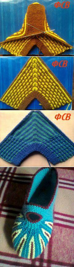 (82) Одноклассники МК тапочек | вязание | Постила