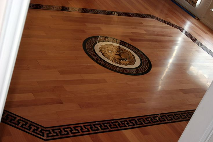 awesome brown amazing cream wood floor pattern design idea with floral and plaid motives with dark brown border and lion motive bed ideas pinterest - Hardwood Floor Design Ideas