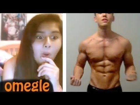 17 year old TAKING OVER OMEGLE with Shredded Aesthetics   Girls mirin co...