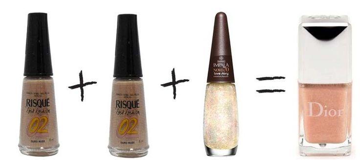 Misturinha para Chanel Ouro Nude (Risqué) + Ouro Nude (Risqué) + Love Story (Impala) = Beige Lotus (Dior)