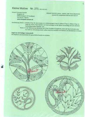 KSchm 271 Klöppeln Klöppelbrief 10cm kleine Motive Neutral Brief ohne Rahmen