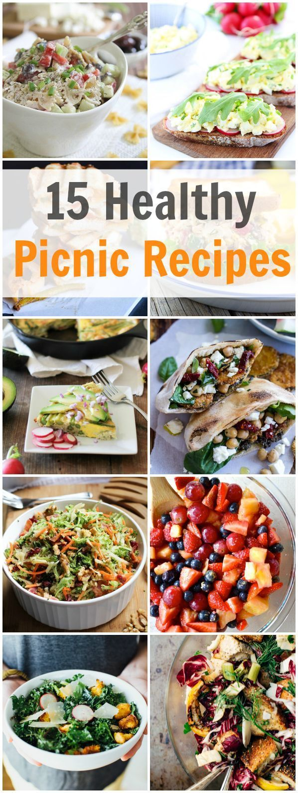 15 Healthy Picnic Recipes - Fill your picnic basket with one of these 15 Healthy Picnic Recipes and you will be ready to enjoy the spring and summer season. primaverakitchen.com
