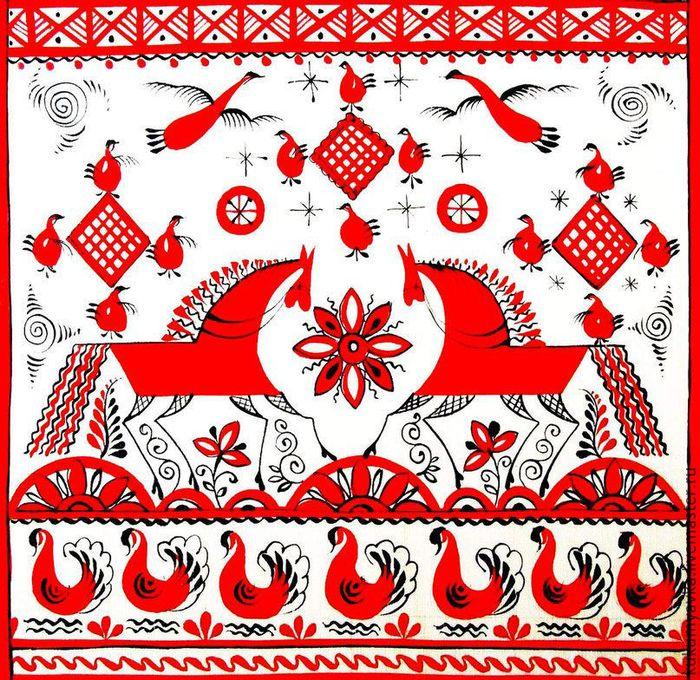 мезенская роспись: 13 тыс изображений найдено в Яндекс.Картинках