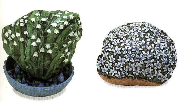 Про раскрашенные камушки. Пригодится для приятного времяпрепровождения на даче или на море) Если бы я не увидела этой картинки, то, наверное, сама бы не додумалась, что на камнях можно не просто рисовать, но ещё и использовать их целиком, как форму для домов, машин и т.п. p&h…