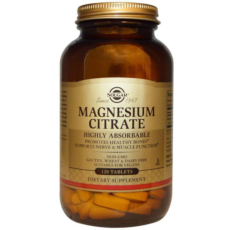 Solgar, Magnesium Citrate, 120 Tablets - iHerb.com