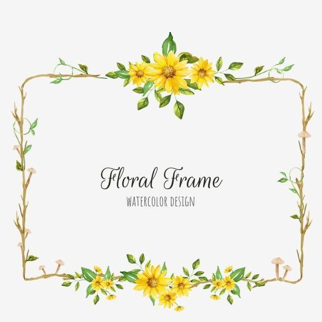 Png Background Flower Frame Wedding Wedding Invitation Invitation Card Hand Light Badge Nature Yellow Flo Wedding Frames Wedding Invitation Vector Flower Frame