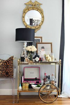Bar Cart Styling Ideas And Tips Bliss At Home