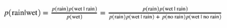 Think of A as some proposition about the world, and B as some data or evidence.  For example, A represents the proposition that it rained today, and B represents the evidence that the sidewalk outside is we