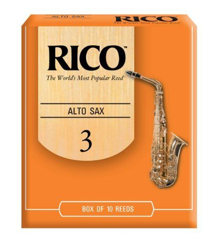 Rico Alto Sax Reeds, Strength 3.0, 10-pack by D'Addario  Inc. $17.49. From the Manufacturer                Designed for a wide variety of playing situations, Rico Reeds in strength 3.0 are designed to vibrate easily. Featuring an unfiled cut and thinner vamp, Rico offers an ease of play that, combined with its affordable price and convenient packaging options, explains why more musicians worldwide find Rico the best value. Rico reeds have been the standard a...