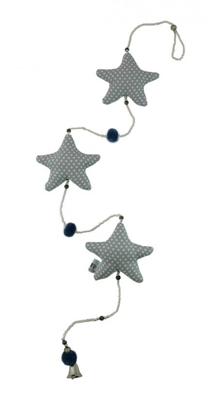 KiddyColors : Slinger -ster grijs dots