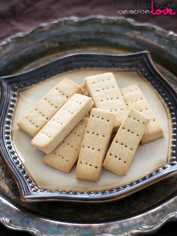 Simple Gluten-Free Vegan Shortbread Cookies {Refined Sugar-Free}