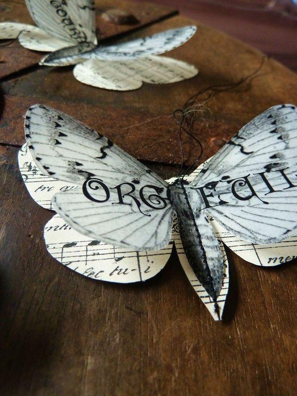 Guignol et Blanche, Papillons en papier. I love it. !!! beautiful pics on her site as well. K!