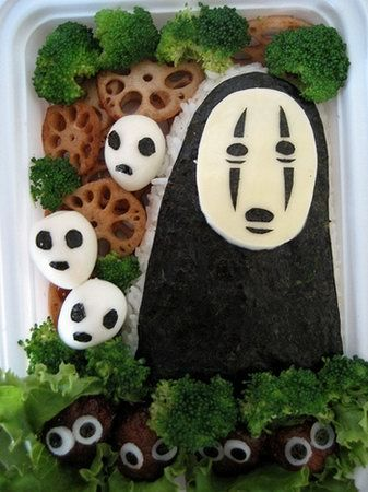 Japanese Food Art - My girls would be proud that I know what movie this came from!  (Spirited Away) ;)