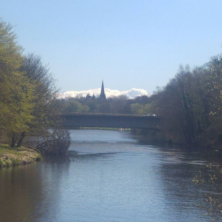 #Cardiff looking great this morning with #llandaff cathedral as a backdrop.