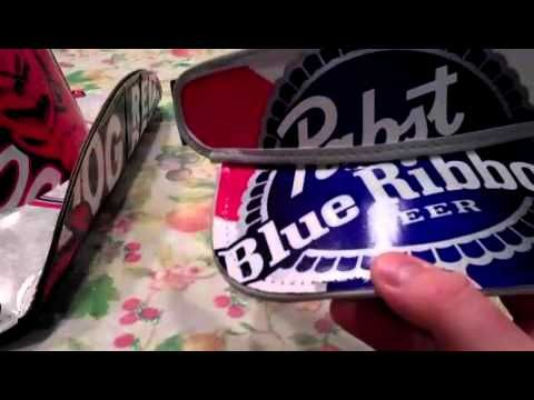 How to make a beer box cowboy hat - YouTube