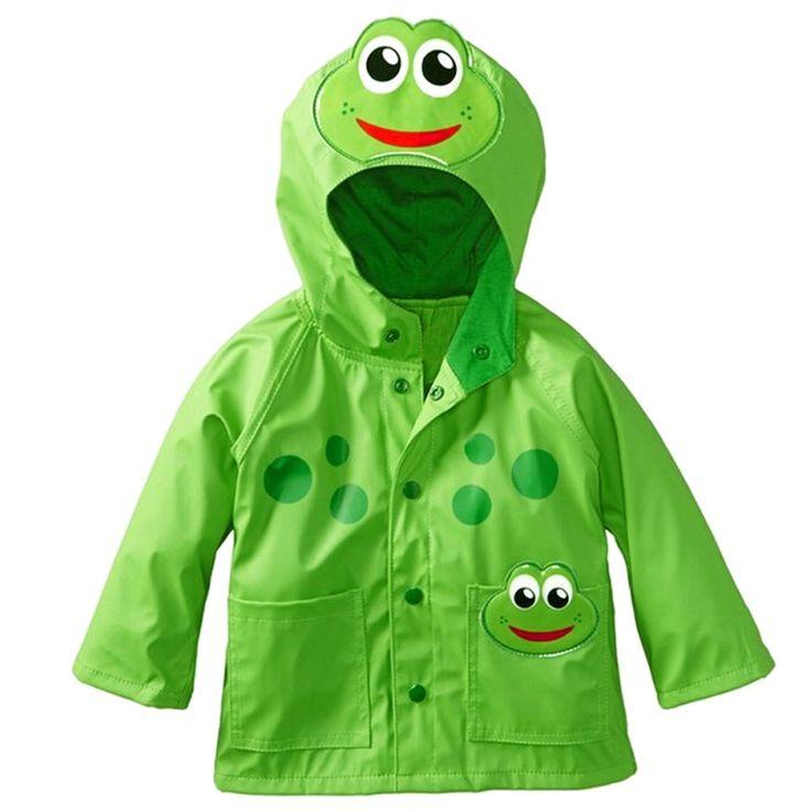 Cute Kids Raincoat Frogs Princess Boys Raincoat Girls Windbreaker Rainproof Jacket Children Baby Rainwear #Affiliate