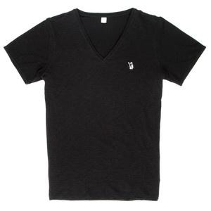 T-Shirt Slub Schwarz