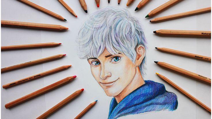 Уроки рисования. Как нарисовать Джек Фрост Jack Frost How to draw