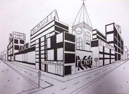 Afbeeldingsresultaat voor 3d stad tekenen