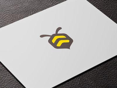 Modern bee graphic
