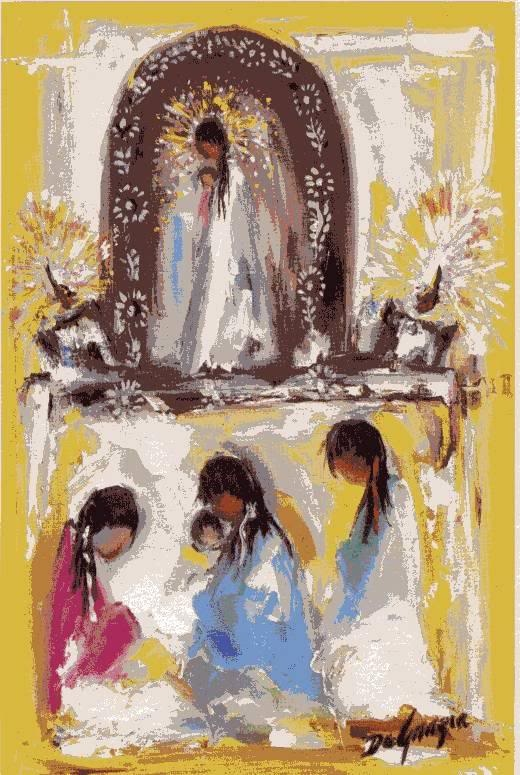 Canvas Santa Fe >> 81 best images about DeGrazia Art on Pinterest | Oil on canvas, Mothers and Madonna