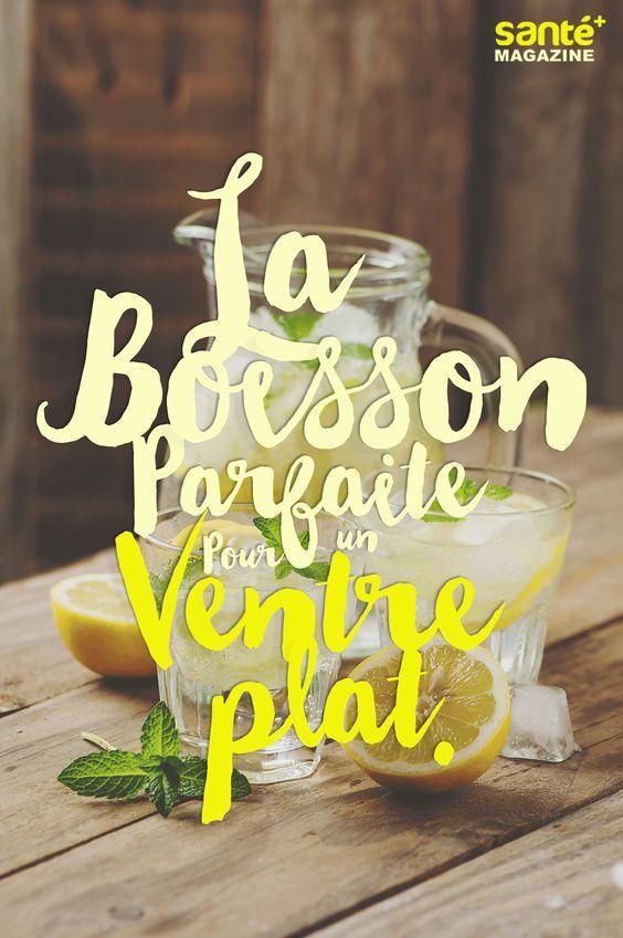 boisson, detox, ventre, plat, concombre, gingembre, citron                                                                                                                                                                                 Plus