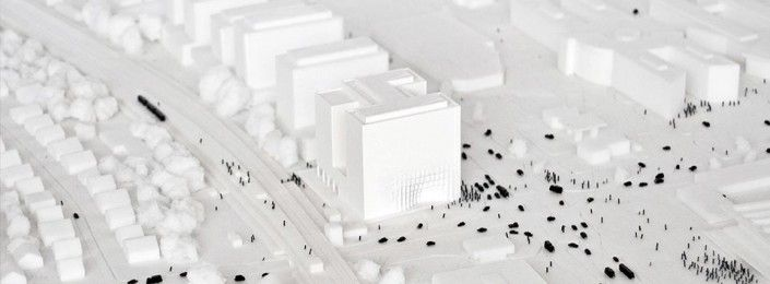 3d printed urban scale model