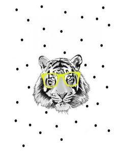 Kaart Tijger #minimel #france #indianpanda #panda #toys #illustrator #design #kussen #tas #handmade #dreamcatcher #design #postcard #illustratie #interiordesign #tiger #tijger #quefem #quefem_webshop