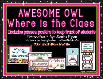 This file includes three major components which helps keeps track of students and the class. Did you ever wonder where one of your students is? This poster will keep track of your students. It is a great help for when the fire drill rings just look at the poster and you know where everyone is. https://www.teacherspayteachers.com/Product/Back-to-School-Owl-Chart-Passes-to-Track-Class-Student-Pack-1932983