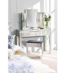 MADISON Mirrored Dressing Table with 4 legs