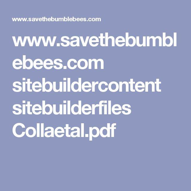 www.savethebumblebees.com sitebuildercontent sitebuilderfiles Collaetal.pdf