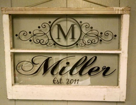Vintage Two Pane Window Personalized Last by VaughnCustomCreation. PERSONALIZED FOR YOU. Monogram. Last Name. Established Date. Family. Home Decor. Vinatage Window. Anniversary Gift. Wedding Gift.