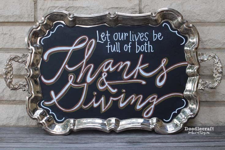 Doodlecraft: Thanks & Giving Serving Tray Decor