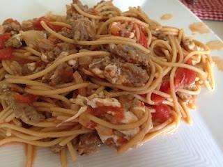 Pasta With Turkey Sausage And Smoked Mozzarella Recipe — Dishmaps