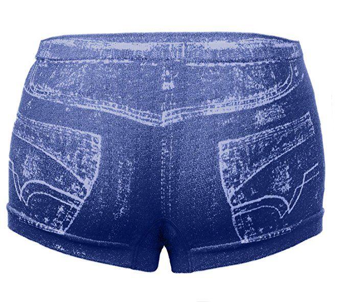 Amazon.com: Simlu Womens Seamless Cute Sexy Trendy Casual Denim Look Shorts with Pocket Design: Clothing