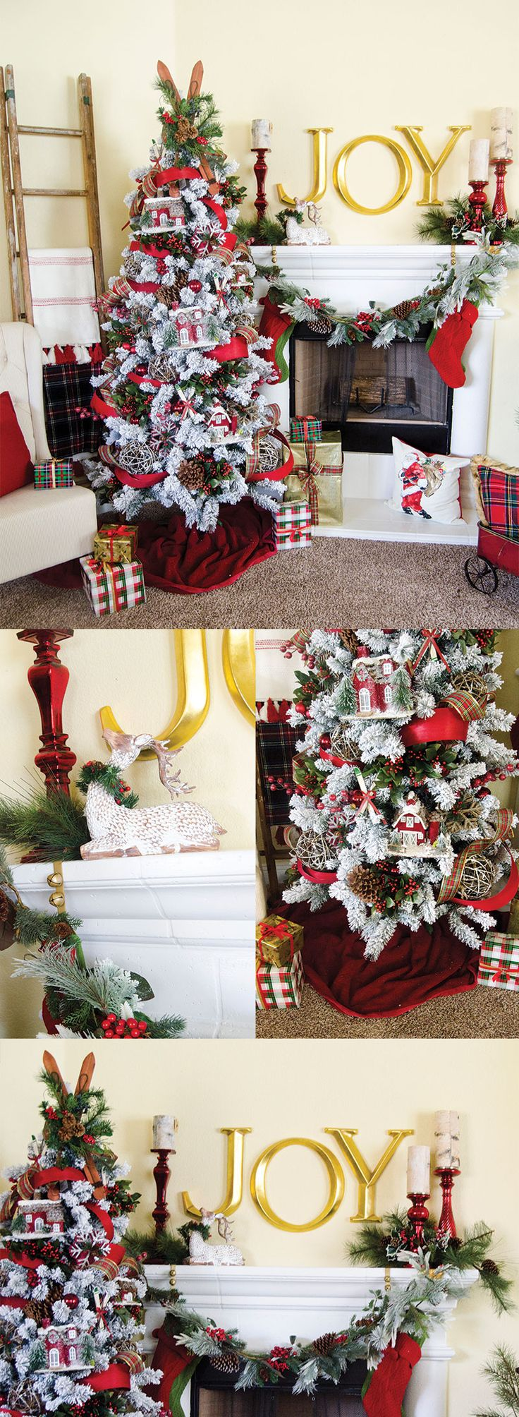 It S Time To Reveal My Michaels Makers Dream Tree Learn How To Decorate A Plaid Christmas Tree For Yourself