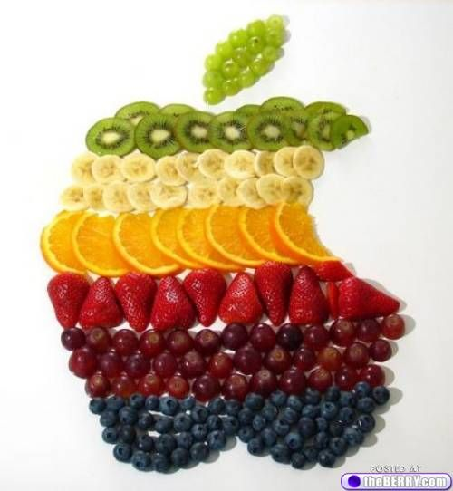 Cool Apple made of fruit