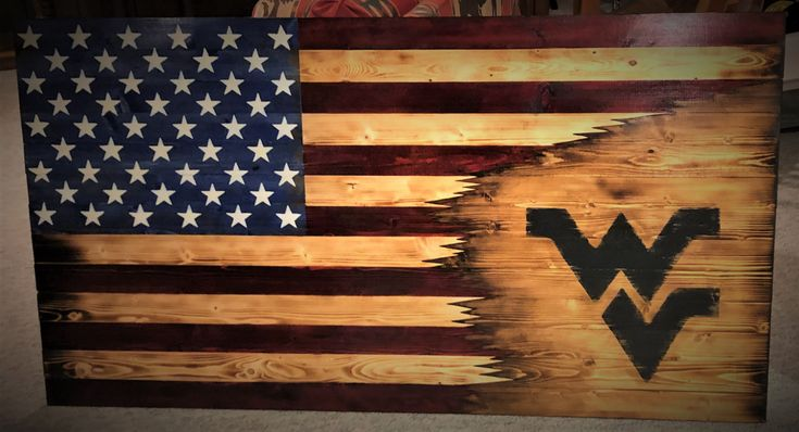 American West Virginia Flag Wv Flag Wooden Flag West Etsy American Flag Wood Wooden Flag Wood Working Gifts