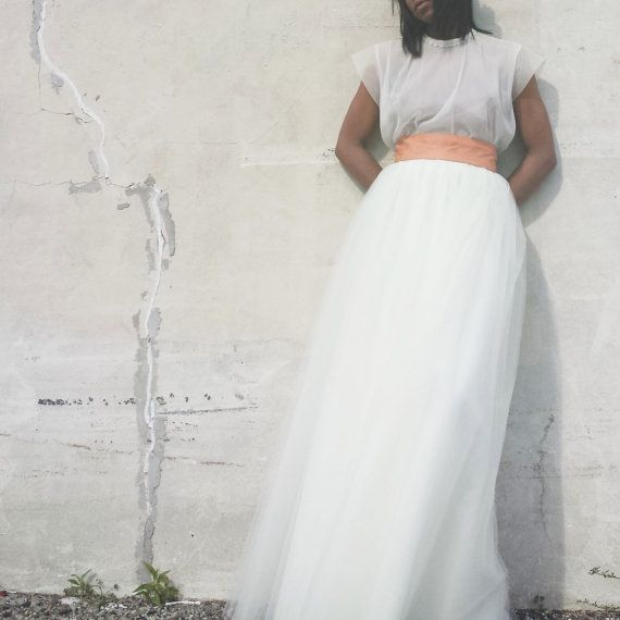 Tulle Skirt   Ivory Maxi Tutu Cute Skirt Long Tulle by 2live2love