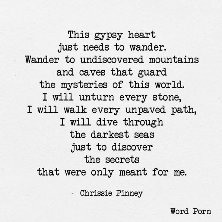 Gypsy heart - chrissie pinney - quote - Word porn
