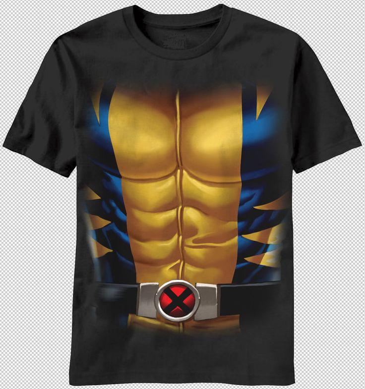 New X-Men Logo Wolverine Suit Costume Muscle Adult T-shirt top marvel comics