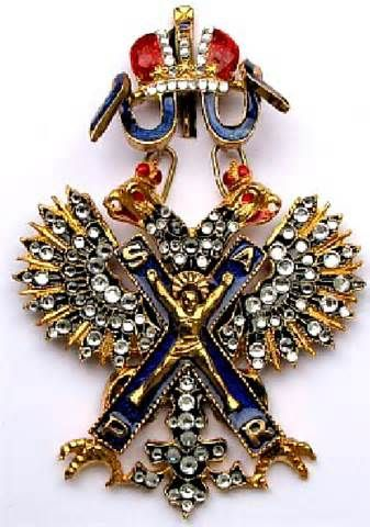 Order of Saint Andrew Badge with Brilliants. Russian