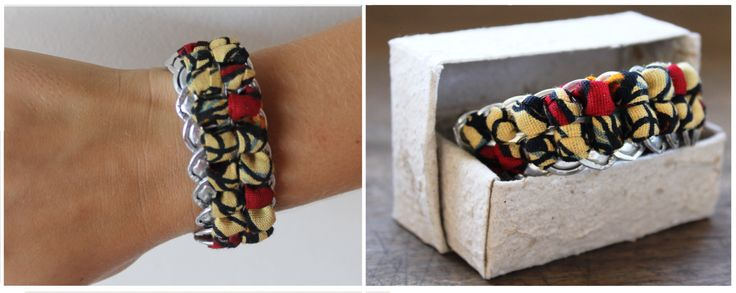 Armband gemaakt door de Wonder Workshop in Tanzania. Van gerecycled materiaal!
