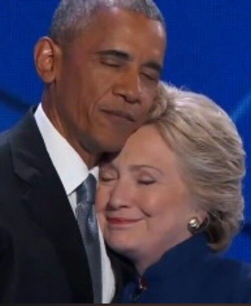 President Barack Obama and former SOS now Democratic Presidential Candidate Hillary Clinton