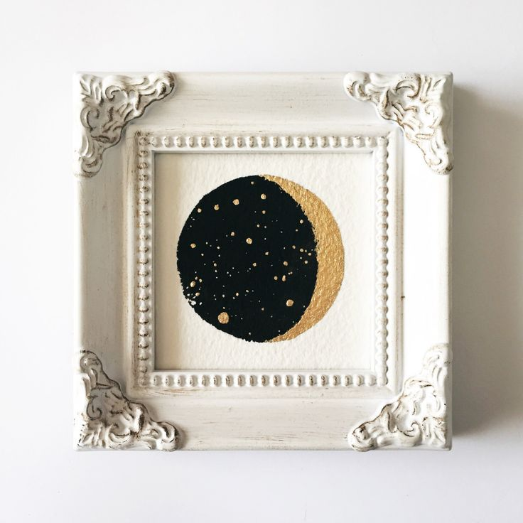 A personal favorite from my Etsy shop https://www.etsy.com/listing/464448725/original-mini-moon-painting