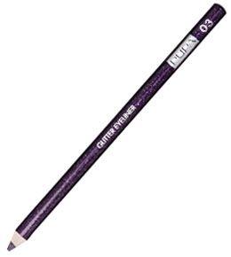 MATITA EYELINER GLITTER    Magica sensualità allo sguardo!  Una speciale matita eyeliner dai colori pieni con spettacolari glitter argento.  Risultato luminoso a lunga durata.